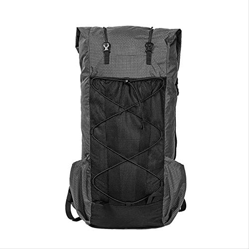 STBB Mountaineering Backpack Ultralight Ripstop Nylon Backpack Roll-up Ul Rucksack  Gray Color