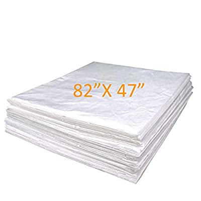 """METCRY Plastic Sheeting for Body Wrap Used Inside a Far Infrared Sauna Blanket 47""""x82"""" PVC"""