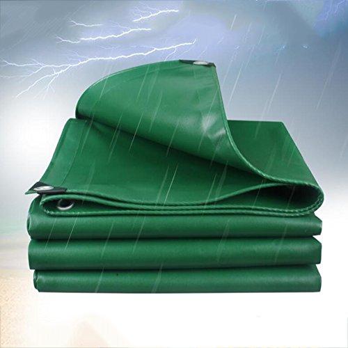Planen ZHANGRONG- Regen Tuch Sonnenschutz Dicke Zelt Wasserdichte Tuch Auto Linoleum Carport Rolle Tuch 520g (0,4mm) (größe : Green -3x4m)