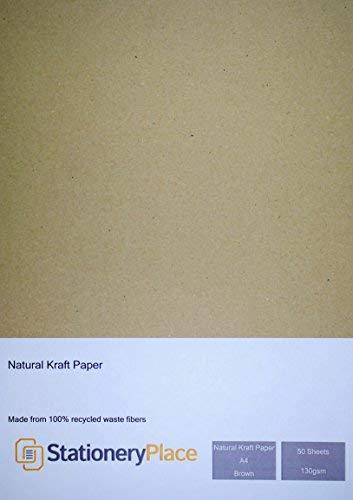 briefpapier plaats natuurlijke Eco gerecycled bruin kraft papier A4 130GSM bruin 50 vel Pack