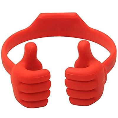 Honsky Thumbs-up Cell Phone Stand Holder, Tablet Stand Cradle for Desk Desktop Smartphone Cellphone Mobile Phone Tablets – Universal Adjustable Flexible, Deep Red from Honsky
