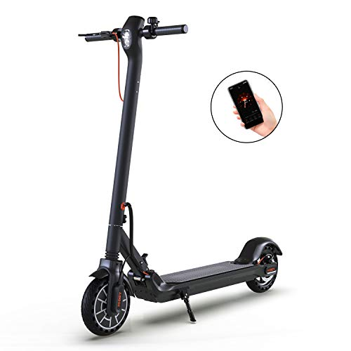 """Hiboy MAX Electric Scooter for Adults, Up to 17 Miles Long-Range & 18 MPH, 8.5"""" Solid Tires, Folding & Commuting Adults Electric Scooter with App and Double Braking System (Black)"""