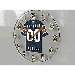 FanPlastic SEC Southeastern Conference College Football - Personalized Wall Clocks - Size 12 X 12 X 2 - The Best A Fan CAN GET !!! (Auburn)