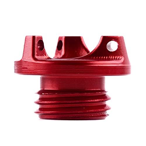 HDDTW Tapas De Gasolina Decorativas Más Calientes para Kawasaki Z800 Z1000 Z1000SX VERSYS 1000 ABS Apariencia Única Cubierta Tornillo Tapa Llenado Aceite Motor Motocicleta (Color : Rojo)
