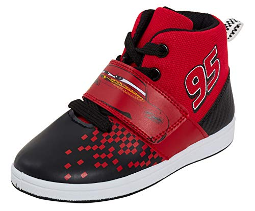 Disney Jungen Cars Hi Top Sneaker Kids Lighting McQueen Casual Knöchelstiefel Sportschuhe, Rot - rot - Größe: 30 EU