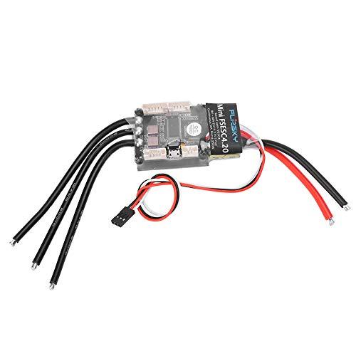 AAAGX Controlador De Velocidad Eléctrico Sola Unidad, V6 Mini FSESC4.20 50A Radiador...