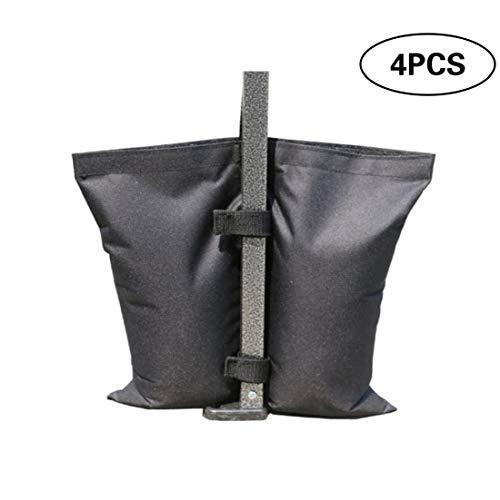 4 Pcs Tenda Leg Peso Borse Industrial Grade Heavy Duty Sabbia Sacchi Per Il Baldacchino Della Tenda, All'aperto Sun Shelter-nero