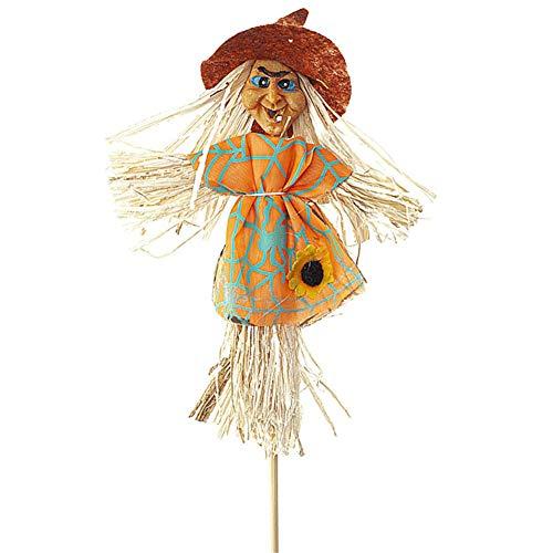 Decoraciones de espantapájaros de Halloween, decoración de espantapájaros de bruja pequeña de 16 pulgadas, bonita decoración de jardín para el hogar, fiesta, decoración al aire libre, cosecha de otoño