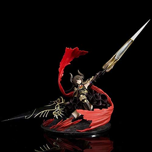 DMCMX Dark Dragon Knight Rage of Bahamut Kneeling Anime Game Character Model Static Room Table Decoration 30CM Bedside Computer Case Decoration Exquisite Figure