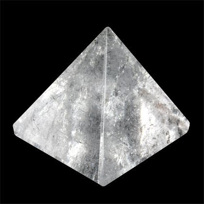 SHIVANSH CREATIONS Natürlicher Edelstein, handgeschnitzt, gefüllt mit Orgon-Energie, klarer Quarz-Pyramide, 40-50 mm