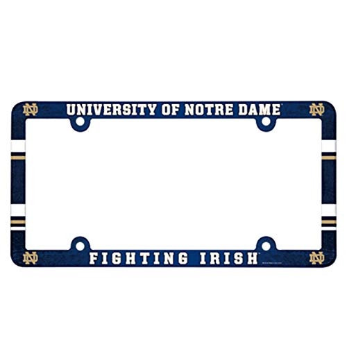 Wincraft NCAA License Plate with Full Color Frame, Notre Dame Fighting Irish