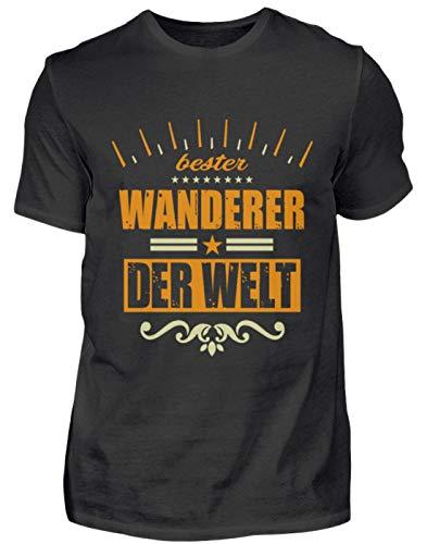 Wanderer T-Shirt Geschenk Sport Lustiger Spruch - Herren Shirt -L-Schwarz