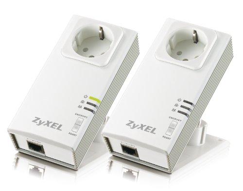 ZyXEL PLA-407 Powerline netwerkadapter Starter Kit (netwerk uit het stopcontact)