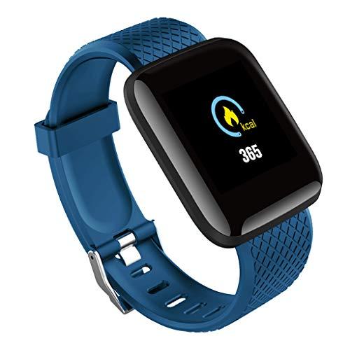 B Blesiya Pulsera deportiva con deportes para iOS Android 116plus pantalla táctil - azul