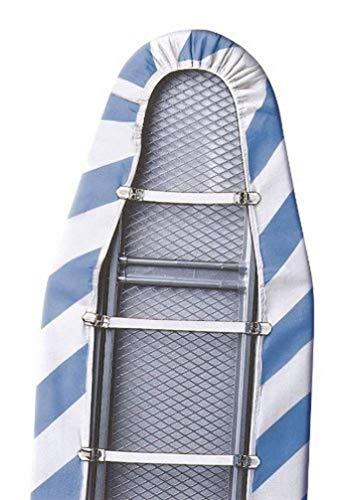 WENKO Fixe-Housse de repassage - set de 3, Caoutchouc, 14 x 2 x 3 cm, Blanc