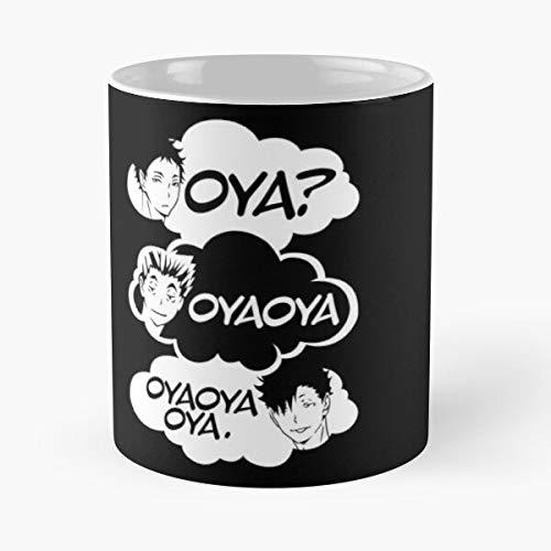 5TheWay Kuroo Nekoma Anime OYA Bokuto Haikyu Fukurodani Akashi - Best 11 oz Kaffeebecher - Nespresso Tassen Kaffee Motive
