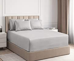 CGK Unlimited Extra Deep Pocket Sheets - 7 Piece Sheet Set - Split King Size Sheets Deep Pocket - Extra Deep Bed Sheets...