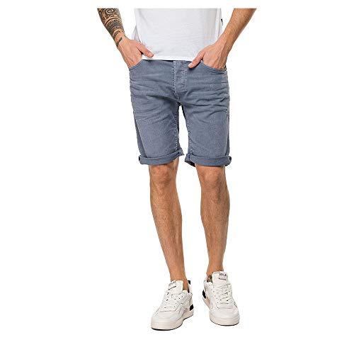Replay Herren RBJ.901 Shorts, Blau (Stone Blue 084), 50 (Herstellergröße: 33)