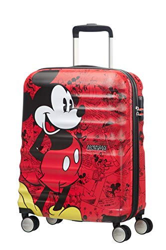 American Tourister Disney Wavebreaker, Spinner, S (55cm-36L), Multicolor (Mickey Comics Red)
