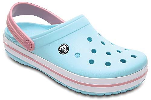 Crocs Crocband U, Zuecos Unisex Adulto, Azul (Ice Blue-White), 38-39 EU