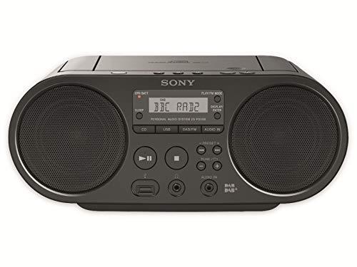 Sony -Boombox-CD-Player (DAB, UKW-Radio, USB) schwarz, ZSPS55B.CED