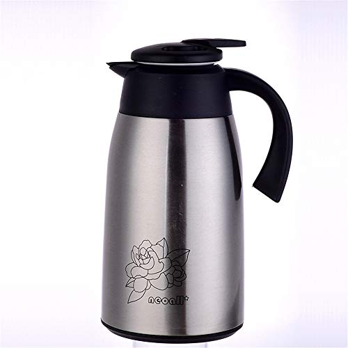 Olla de Aislamiento Copa de vacío con aislamiento de gran capacidad de la caldera caliente y frío durante 12 horas Adecuado for el café y té para Café y Té ( Color : Stainless steel , Size : 1