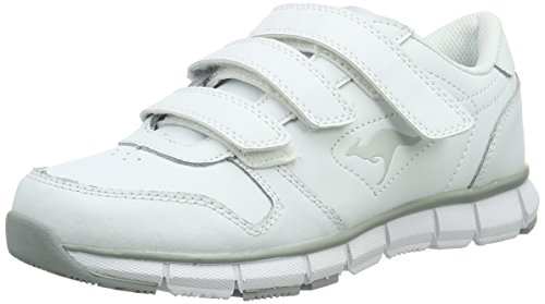 KangaROOS K-bluerun 700 V B, Zapatillas Unisex Adulto, Blanco (White/Lt Grey 002), 38 EU