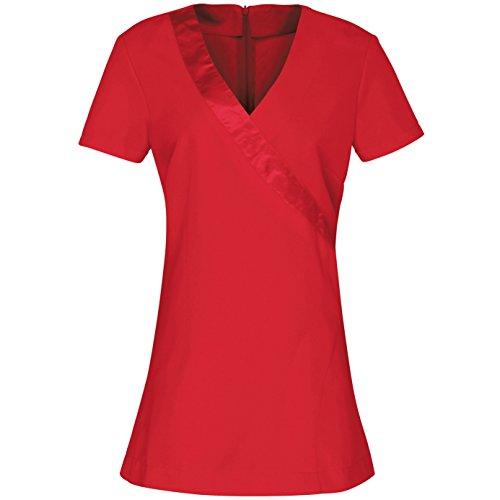 Premier Women / Ladies Rose Beauty & Spa Wrap Satin Trim Tš²nica (10) (Strawberry Red)