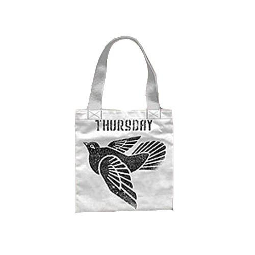 Thursday - White Printed Henkeltasche
