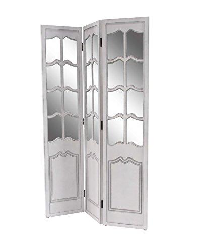 Deco 79 98181 98181 Room Divider, White/Mirrored