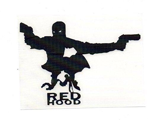 "DC COMICS BATMAN 5"" RED HOOD SILHOUETTE Decal Sticker for Laptop Car Window Tablet Skateboard - BLACK"