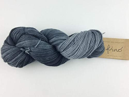 sold out Manos Del Uruguay Silk Blend Portland Mall Fino 427 Mourning Dye 100gm Hand -