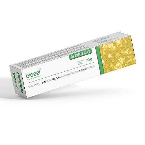 Schwefelsalbe 10 % für Milben, Schorfe, Mitesser | Schuppenflechte, Ekzeme, Akne, Dermatitis, trockene Haut 70 g