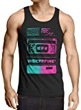 A.N.T. Another Nerd T-Shirt A.N.T. VHS Tape Tank Top Uomo Canotta Canottiera videocassetta VCR Tele showview, Dimensione:2XL