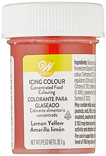 Wilton Colorante Alimenticio para Glaseado en Pasta, 28.3g, Color Amarillo Limón, 04-0-0031