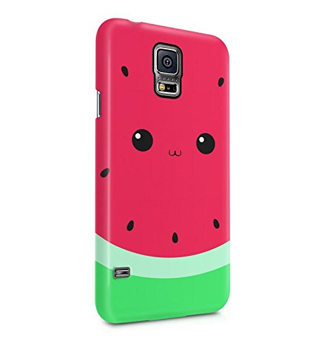 DODOX Watermelon Tropic Fuit Kawaii Face Case Compatible with Samsung Galaxy S5 Mini Snap-On Hard Plastic Protective Shell Cover
