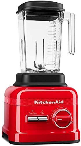KitchenAid 5KSB6060H - Licuadora (2,6 L, Botones, palanca, 1,65 L, Batidora de vaso, Negro, Rojo, China)