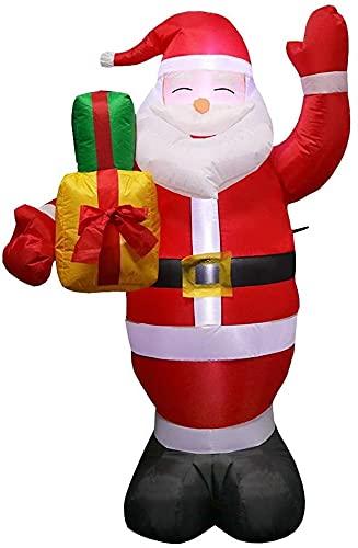 Decoración Navideña Muñeco inflable Navidad inflable Santa Claus 5FT-Xmas Airblown Santa Santa Blow up Decoraciones con bolsas de regalo, incorporado DIRIGIÓ Luces, estacas para al aire libre, patio,