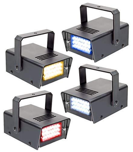 BeamZ 4 Mini Strobo por LED RYBW