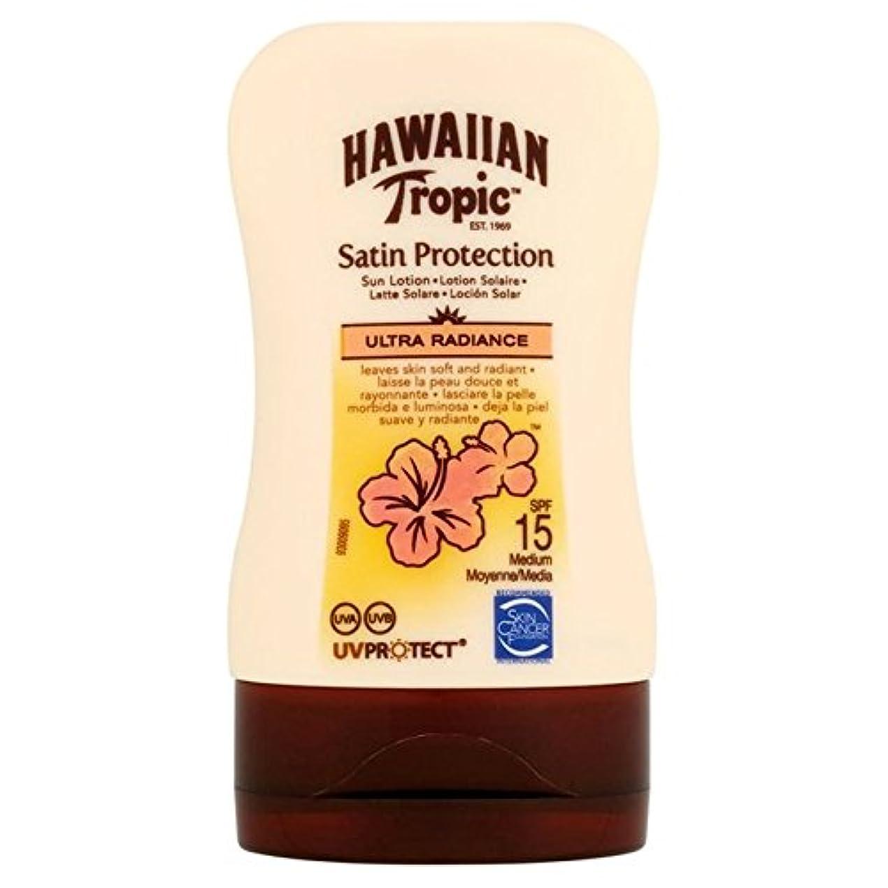 実際虐待ツール南国ハワイの保護ローション15超放射輝度100ミリリットル x4 - Hawaiian Tropic Protective Lotion SPF15 Ultra Radiance 100ml (Pack of 4) [並行輸入品]