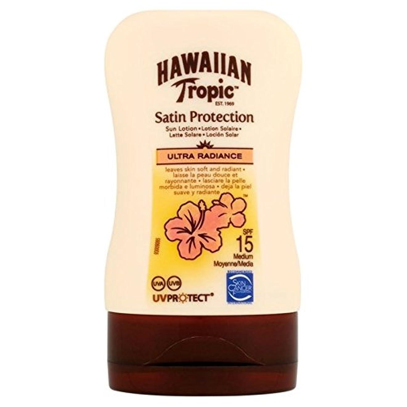 専門愛頑固なHawaiian Tropic Protective Lotion SPF15 Ultra Radiance 100ml - 南国ハワイの保護ローション15超放射輝度100ミリリットル [並行輸入品]