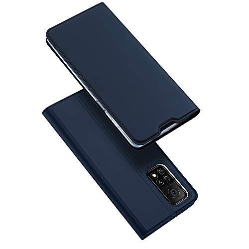 DUX DUCIS Hülle kompatibel mit Xiaomi Mi 10T 5G / Xiaomi Mi 10T Pro 5G, Leder Klappbar Handyhülle Schutzhülle Tasche Hülle mit [Kartenfach] [Standfunktion] [Magnetisch] (Navy blau)