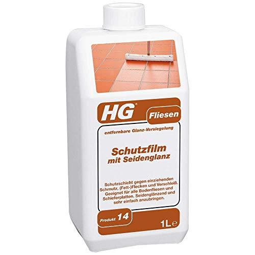 HG Fliesen Schutzfilm mit Seidenglanz 1L – Schutz der Bodenfliesen, Gehwegplatten und Schiefer - Sehr Einfach