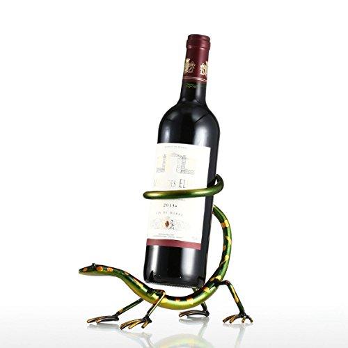 Tooarts  Soporte para Vino  Botellero Forma de GatoEstilo Metálico para la Decoración del Hogar Bar Escultura de Hierro de Arte Decorativa