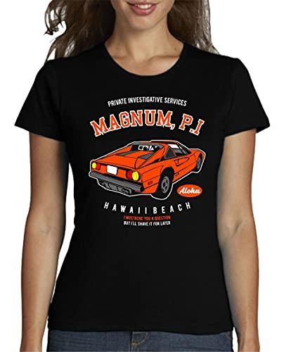 The Fan Tee Camiseta de Mujer Coche Divertida Retro 80 Magnum TV 026 XXL