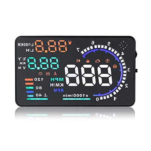 ZRK OBD Car Driving Computer Speed Water Temperaturmessung Gauge Fuel Consumption Meter A8 Head Up...
