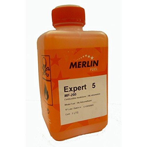 Outletdelocio. Combustible para Aviones de radiocontrol de Gasolina. Merlin Expert 5% Nitrometano. Envase de 1 litro