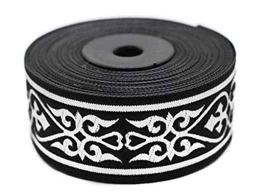 11 Yard Spool 1.37 inches Wide Royal Celtic Heart Jacquard Ribbons Jacquard Trim Ribbon Trim Trimming Sewing Trims