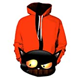 Aoogo Männer Casual Halloween Scary 3D Langarm Print Hoodie Sweater Coat Sweatjacke Kapuzenjacke Sweatshirt Kapuzenpullover Pullover Neuheit Grafik Sportswear Lässige Kapuzenoberteil mit Tasche