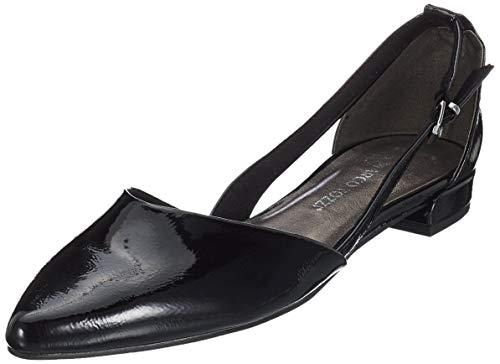 MARCO TOZZI Damen 2-2-22114-32 Geschlossene Ballerinas, Schwarz (Black Patent 018), 41 EU
